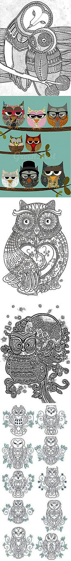 owl coloring page | ТРАФАРЕТЫ