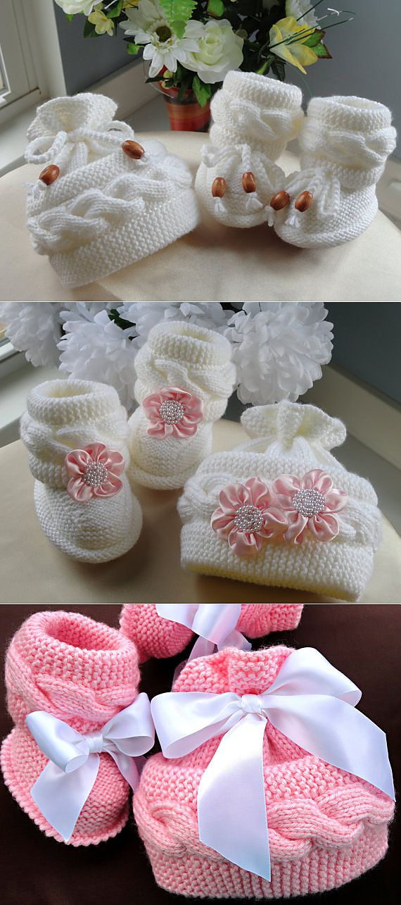 P A T T E R N Knitting Baby Set Baby Shoes Knitted от Solnishko42