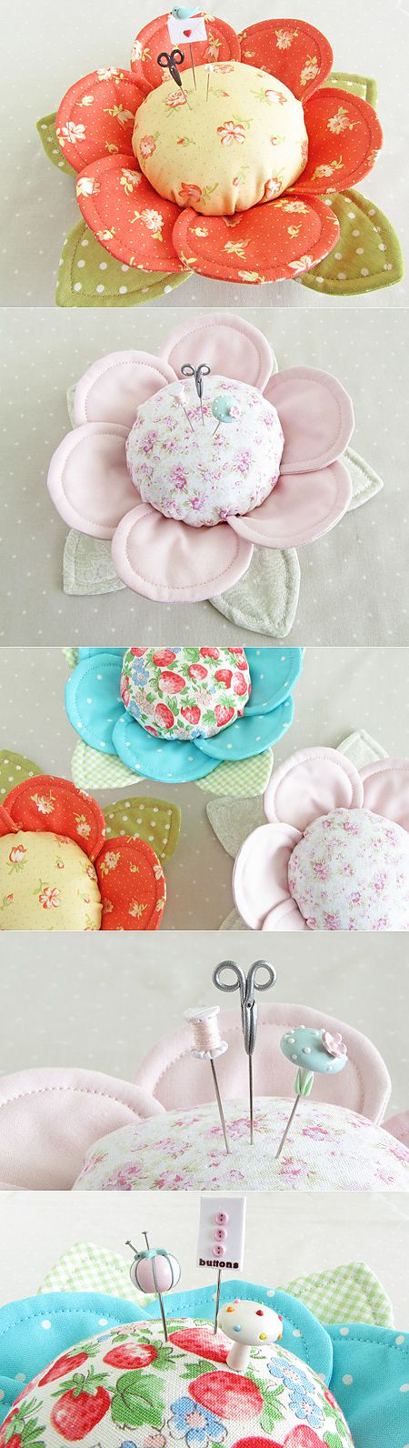 """""""With Fabric & Thread"""" Pin CushionButtercups - Pretty by Hand - Pretty By Hand"""